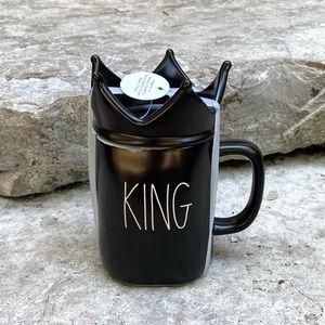 Rae Dunn KING Ceramic Topper Mug